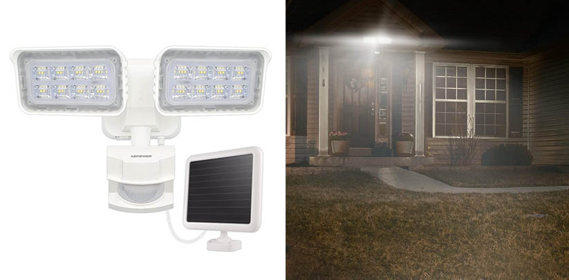 LEPOWER Solar LED Security Lights Motion Outdoor