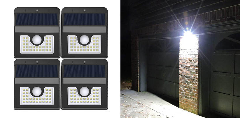 Vivii Solar Lights, Motion Sensor 30 LED Super Bright Flood Lights