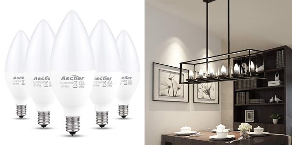 Ascher E12 LED Candelabra Light Bulbs