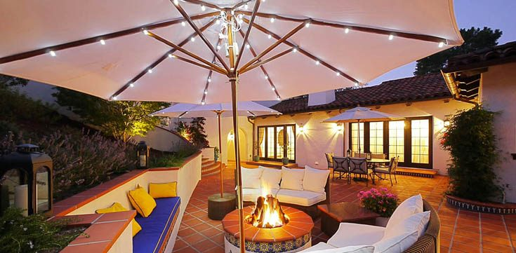 best patio umbrella lights for outdoors | led light guides Best Patio Umbrella