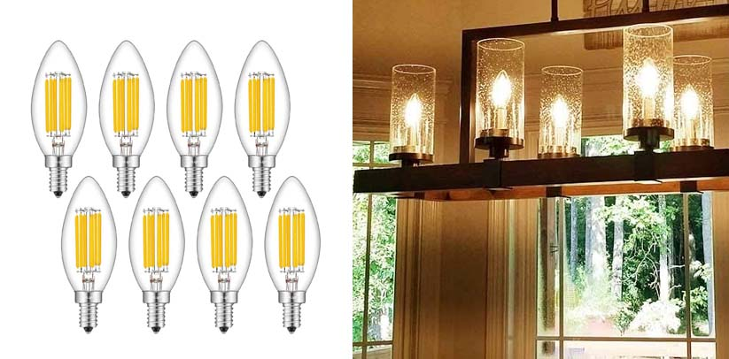 CRLight 6W Dimmable LED Candelabra Bulb