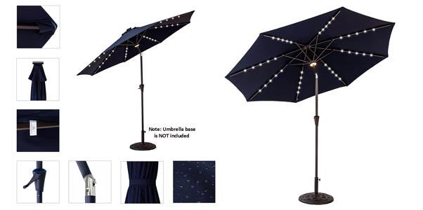 FLAME & SHADE 9' LED Light Patio Outdoor Umbrella Review