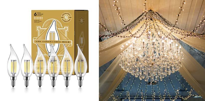 Gordon & Bond LED Vintage Candelabra Light Bulbs