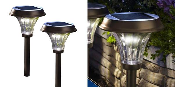 Moonrays 91754 Richmond Solar Led Path Lights