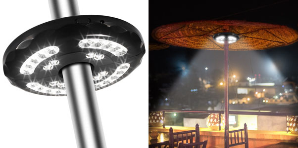 Patio Umbrella LED Lights Rechargeable TOTOBAY