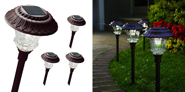 Set of 4 Best Solar Garden Path Lights