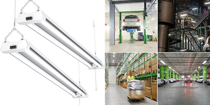 SuncoLED Garage Lighting (2 Pack)