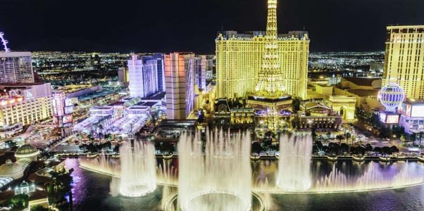 The Bellagio Hotel in Lights