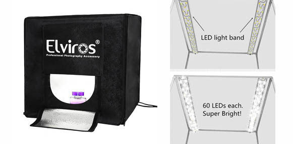 2. Elviros Photography Light Box Tent