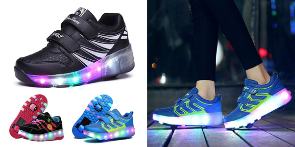 3. Ufatansy Uforme Kids Wheelies Lightweight LED Light Up Shoes