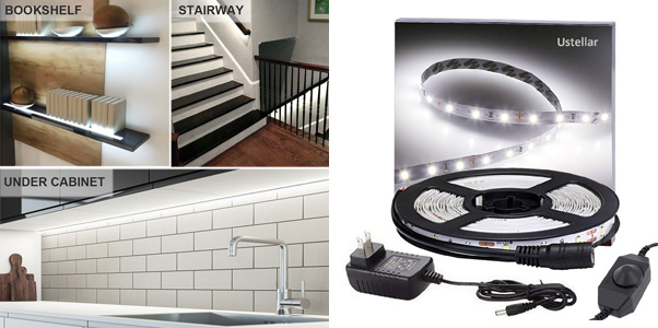 6. Ustellar Dimmable LED Light Strip Kit