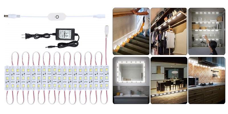 Keyola Full Set 10 ft 60 LEDs White Under Counter Lighting