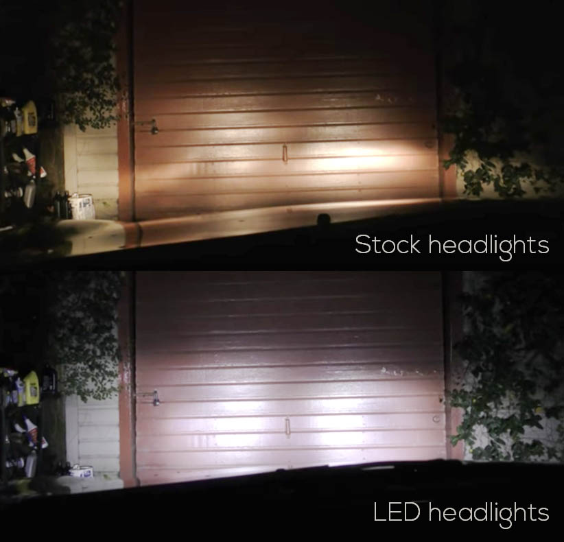 Stock vs LED Headlights