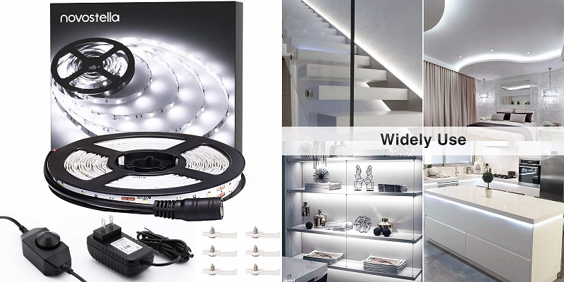 Ustellar Dimmable Under Counter LED Lights Strip Kit