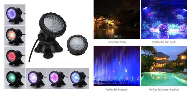 2. MUCH Underwater Light, Waterproof IP68