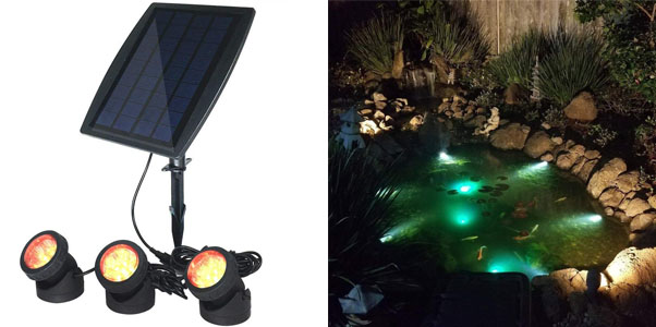 3. COODIA Solar Powered Underwater Pond Lights