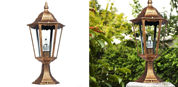 Kendal Large Outdoor Solar Led Garden Light Lamp Post