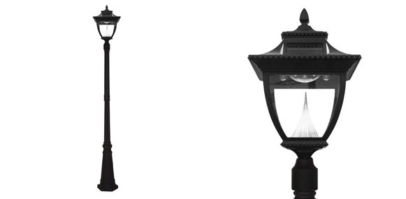 4. Gama Sonic Pagoda Solar Outdoor Lamp Post