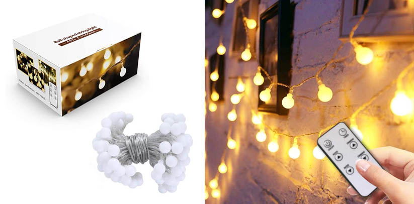 49FT Fairy Globe String Lights with Timer