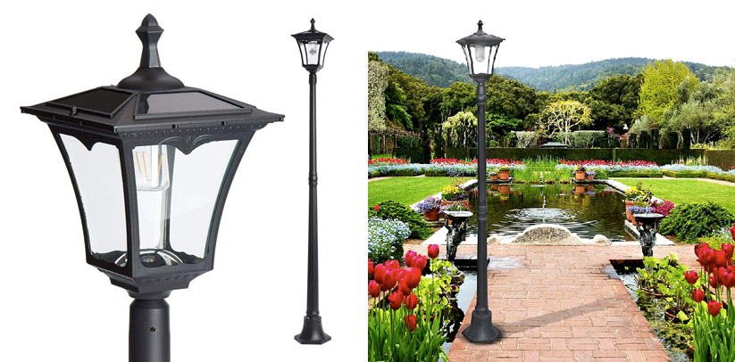 7. Paradise Solar Powered LED Streetlight Style Outdoor Lamp Post