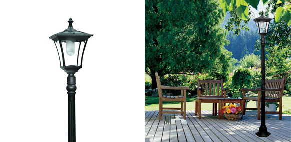 8. Paradise Garden Lighting Cast-Aluminum Solar Powered LED Streetlight-Style Outdoor Light