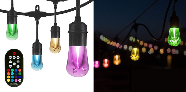 Enbrighten LED Warm White & Color Changing Outdoor String Lights