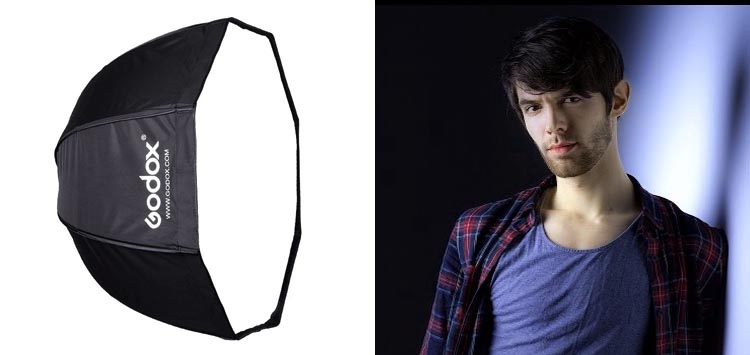 Godox Softbox Octagon Speedlight Softbox Reflector with Carrying Bag