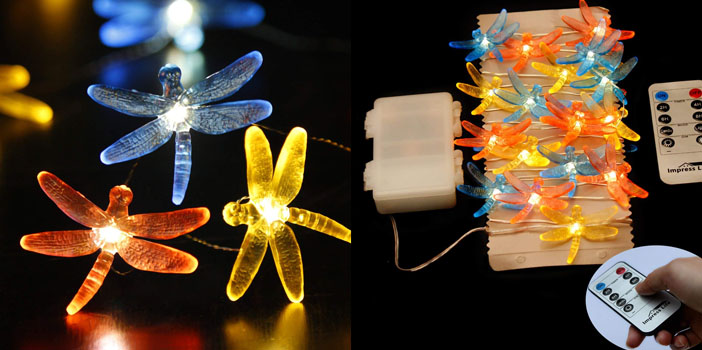 Impress Life LED Dragonfly Bedroom Decoration Lights