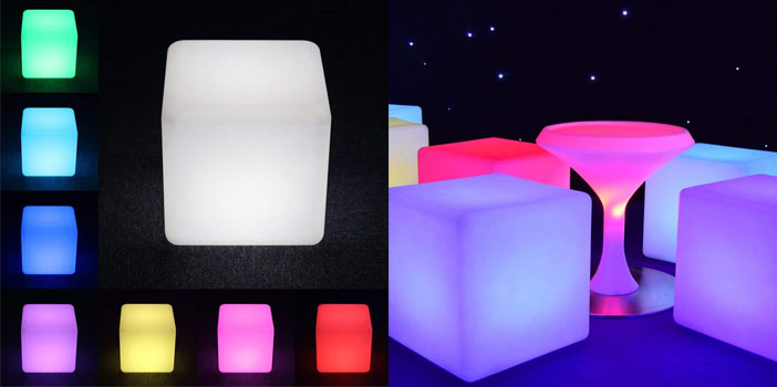 LOFTEK LED Cube Lights, Color Changing Chair, 16 Inch Cube
