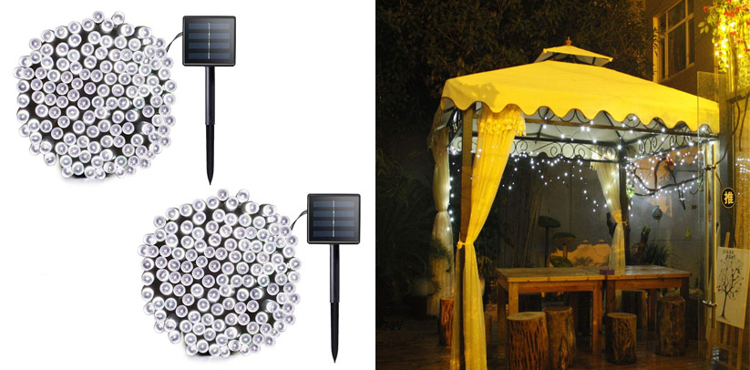 Lalapao Solar Powered Patio String Lights Outdoor (72 feet)