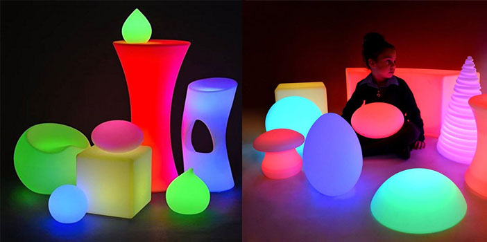 PlayLearn USA LED Rechargeable Light Up Furniture With Remote