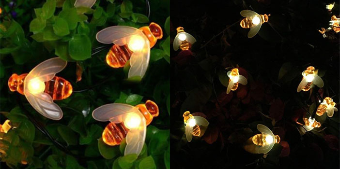 Semintech Solar String Lights 20 LED Honey Bees
