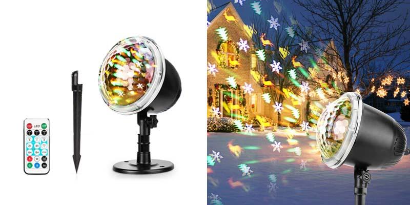 Christmas Projector Lights, Fostoy LED Xmas Decorations Laser Lights
