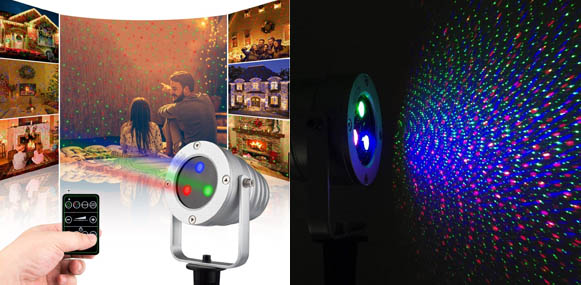Starry Laser Lights Landscape Christmas Projector