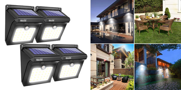 3. Baxia LED Solar Powered Outdoor Motion Lights