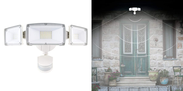 4. Amico 3-Head LED Outdoor Security Motion Lights