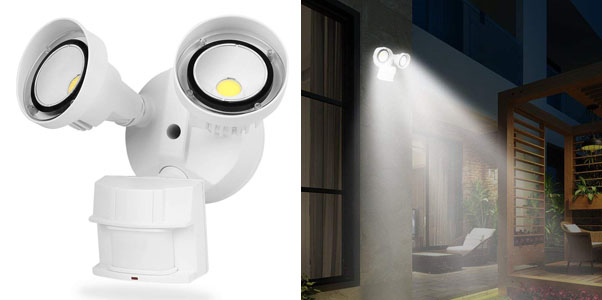 6. CINOTON LED Security Lights Motion Outdoor