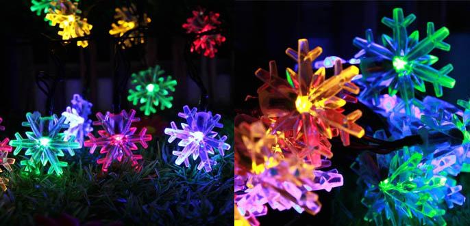 Inngree Snowflake Solar Christmas String Lights