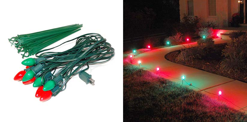Lumabase 61110 10 Count Electric Pathway Christmas Lights