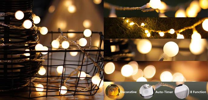 MyCozyLite LED Christmas String Lights