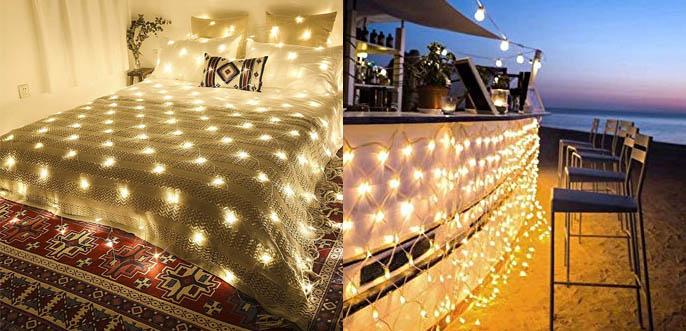 Ollny LED Fairy Net-Mesh Decorative Christmas Lights