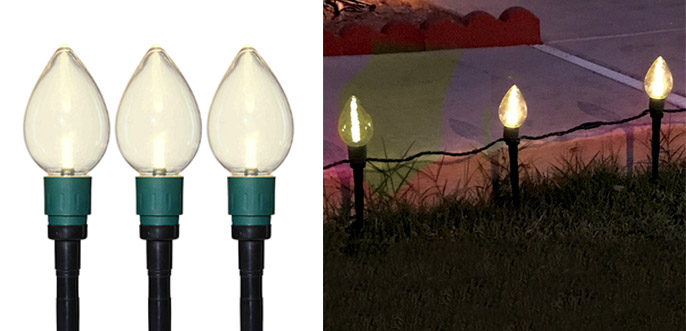 Christmas Pathway Lights.Best Christmas Pathway Lights Light Stakes Walkway Lights
