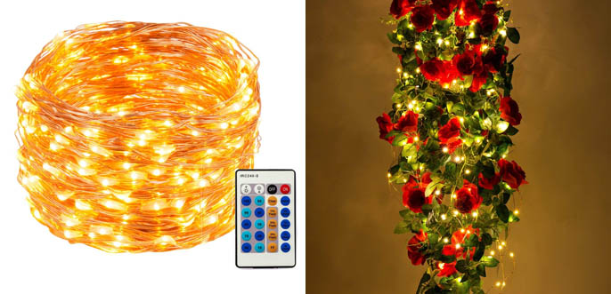 weico led string christmas tree lights