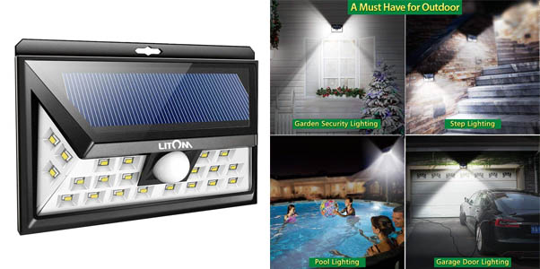 1. Litom 24 Led Solar Outdoor Flood Light