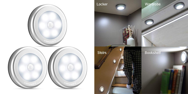 1. UR Power Motion Sensor Stick-Anywhere Puck Lights