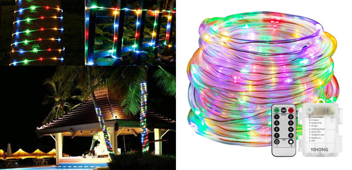 1. Yihong Multicolored LED Rope Lights