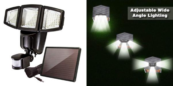 10.Anko 3-Panel 1000 Lumen Solar Flood Light
