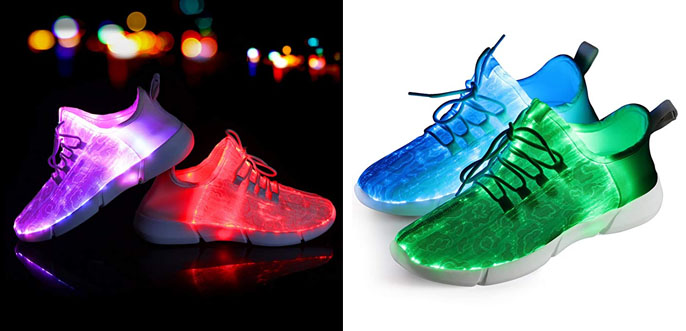 10. Shinmax Fiber Optic Adult LED Light Up Shoes