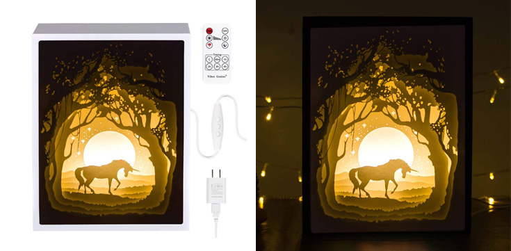2. Decorsmart Papercut Light Boxes - Fairy Butterfly