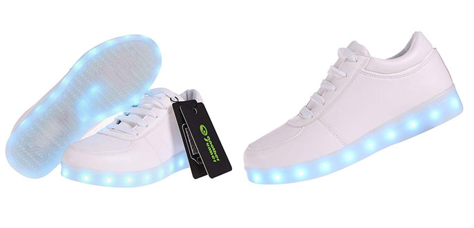 4. Another Summer 7 Colors Unisex Adult LED Light up Shoes